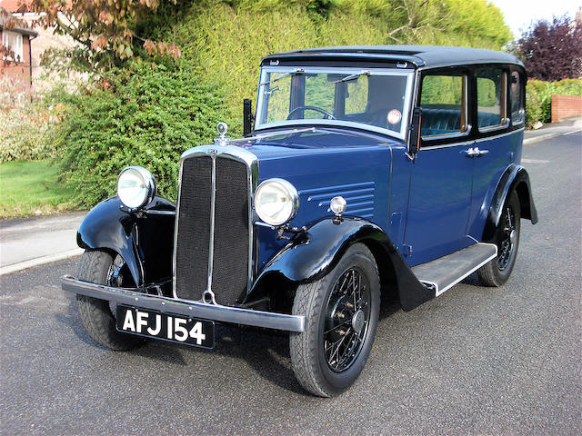 1934 B.S.A. 10hp  Mulliner Saloon  Chassis no. D1843 Engine no. T1891