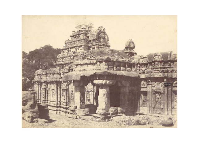 PATTADAKAL BIGGS (THOMAS), A group of 6 temple views at Pattadakal, 1855 (6)
