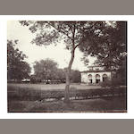 ALLAHABAD A group of three images showing views of the Officers' Mess, including the dining room, and a view of the church and Kailana camp, Chakrata, signed by Gay in the negative, albumen prints, captioned in manuscript on the mounts, images typically 210 x 270mm., 1870-1890; and 4 others (8)