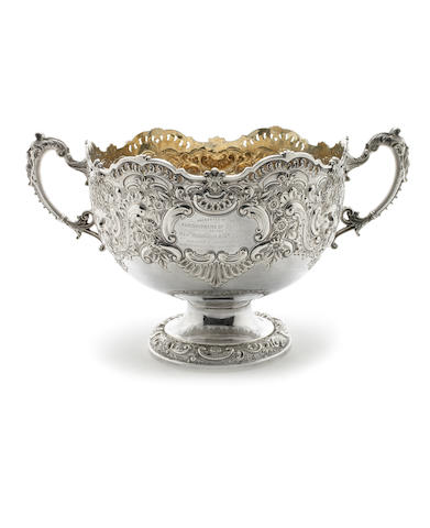 A Victorian silver two-handled rose bowl by Fenton Bros Ltd, Sheffield 1897