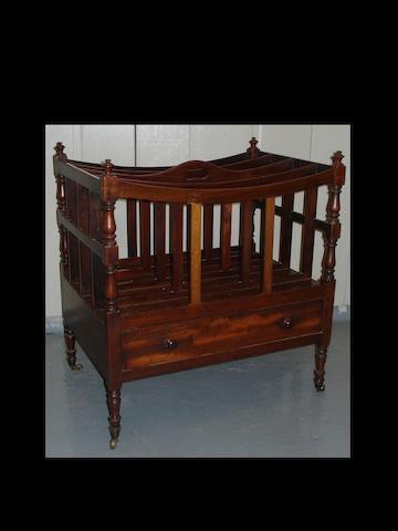 A Regency style mahogany Canterbury,