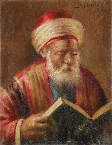 Leonardo de Mango (Italian, born 1843) An Ottoman scribe