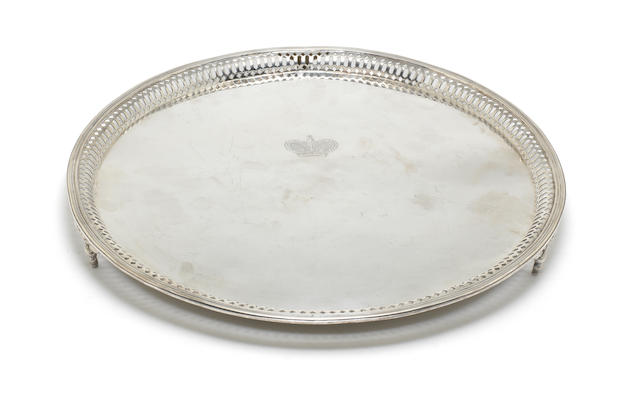 An early 19th century Contiental ***Check*** silver salver apparently unmarked