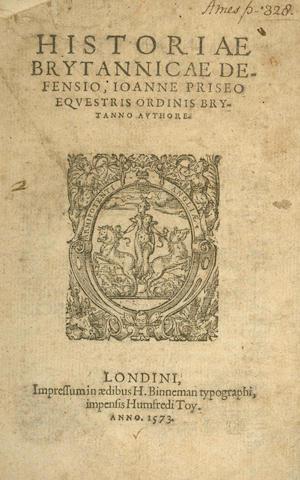 PRICE (JOHN) Historiae Brytannicae defensio, 1573