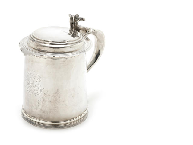 "A Queen ANne ""Legacy"" tankard by Alice Sheen, London 1701"
