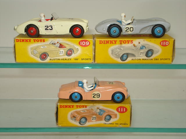 Dinky three Competition Finish Sports cars  3