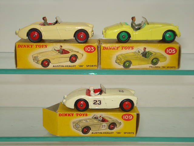 Dinky three Sports cars 3