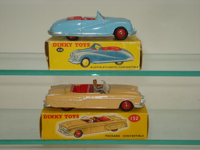 Dinky 106 Austin Atlantic and 132 Packard convertibles 2