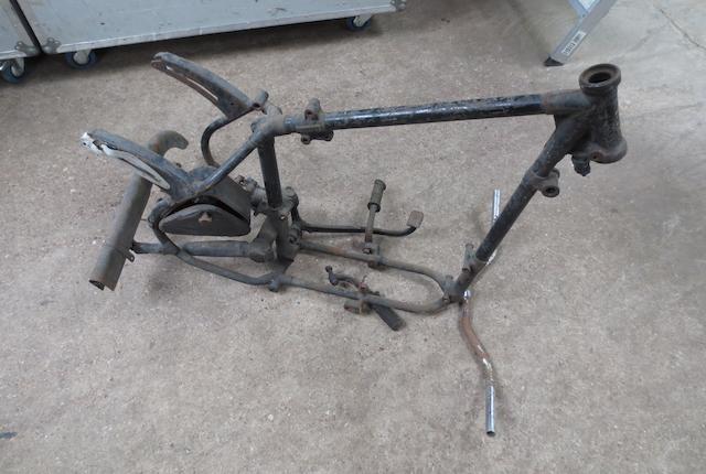 A Velocette 350cc frame,