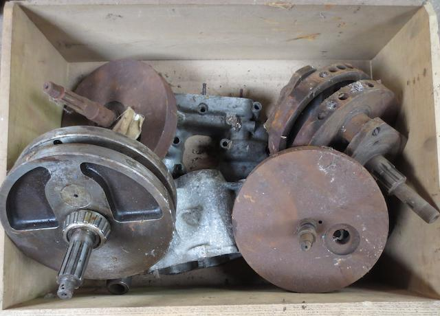 Various cranks for vintage motorcycles,