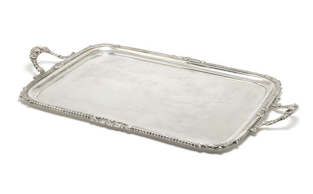 An Edwardian silver two-handled tray by Charles Stuart Harris, London 1903