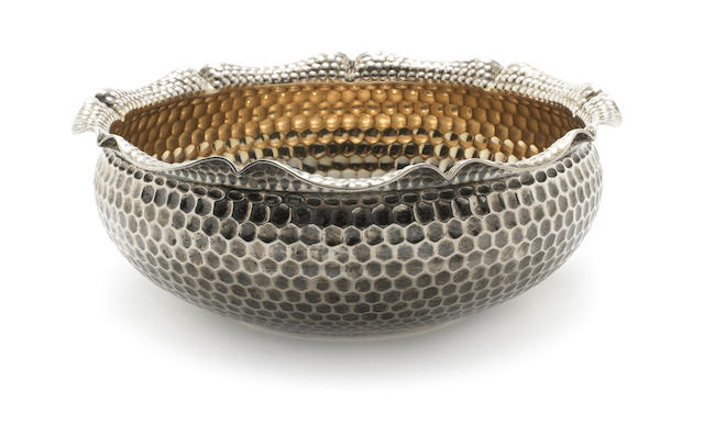 A 20th century German silver bowl by H. Meyen & Co., Berlin circa 1920