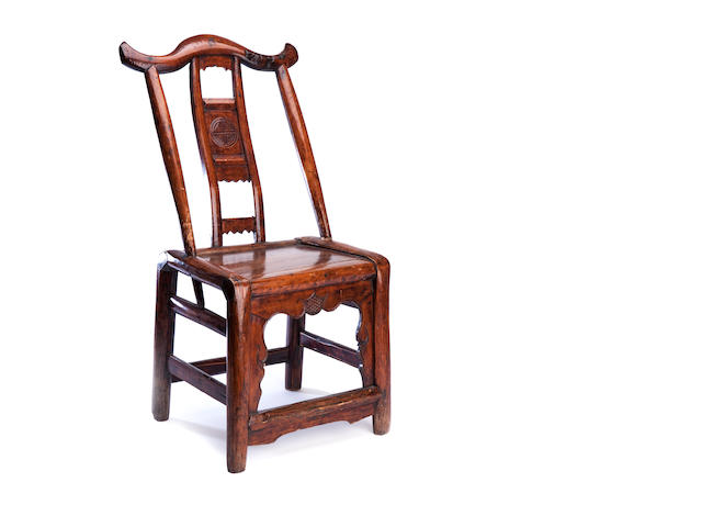 A provincial elmwood childs' chair 19th century