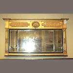 A Scottish George IV giltwood overmantel mirror