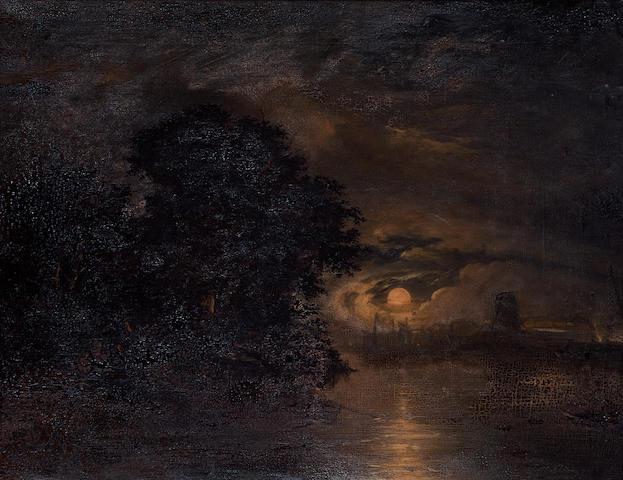 William Henry Crome (British, 1806-1873) Moonlight