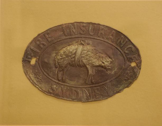 A 19th century Australian Insurance company pressed metal house plate firemark