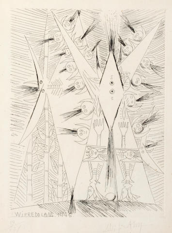 Wifredo Lam (Cuban, 1902-1982) Untitled