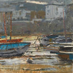 Ken Howard R.A. (British, born 1932) Mousehole, early morning
