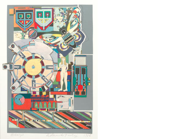 Eduardo Paolozzi (British, 1924-2005) Brazil signed, titled and dated 1988 screenprint  36 x 26.5cm (14 3/16 x 10 7/16in).