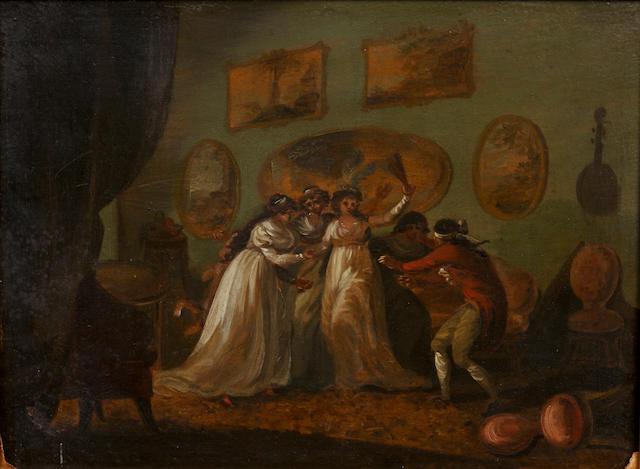 Julius Caesar Ibbetson (Fulneck 1759-1817 Masham) Blind Man's Buff
