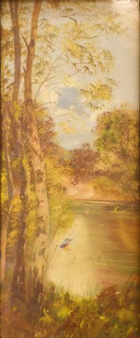 Kingfisher by a Lake (19th century Australian)