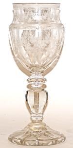A Victorian 'Celery' glass vase