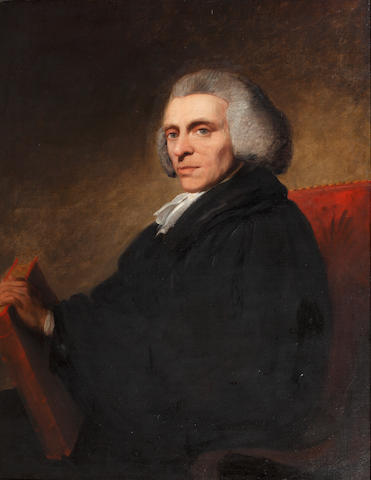 English School, circa 1790 Portrait of Reverand William Jones of Nayland, half-length,