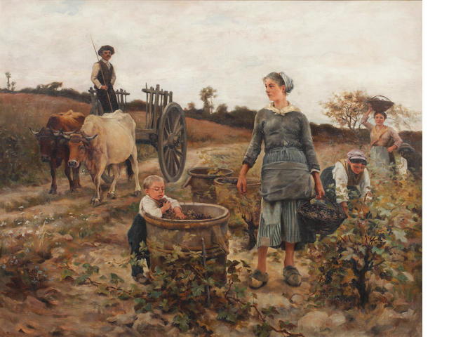 Follower of William Lee Hankey, RWS, RI, ROI, RE (British, 1869-1952) The grape harvest