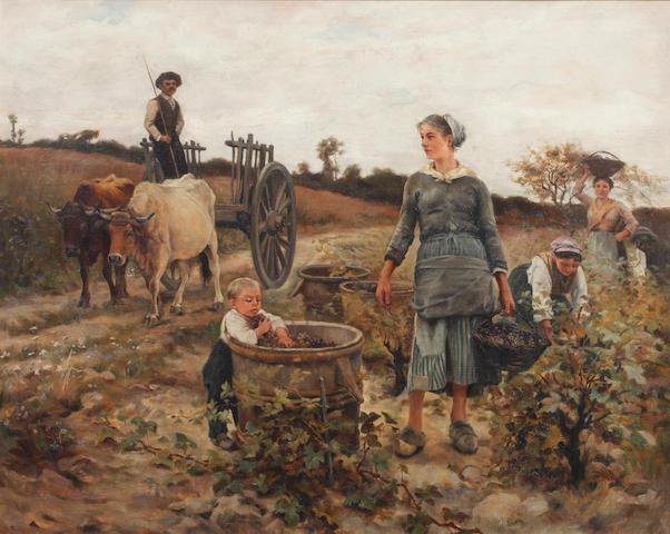 Follower of William Lee Hankey, RWS, RI, ROI, RE (British, 1869-1952) The grape harvest