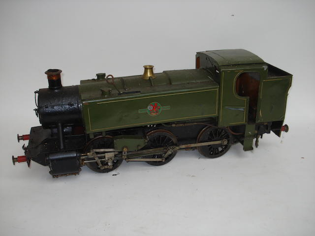 A 3 1/2in gauge live steam 0-6-0 British Railways side tank engine