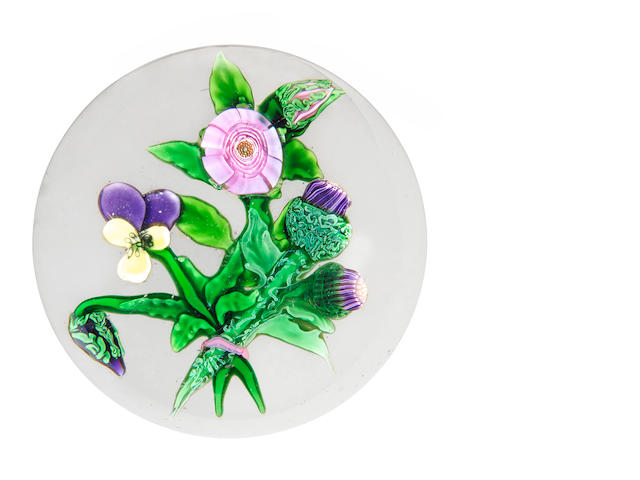 Very rare Clichy bouquet paperweight