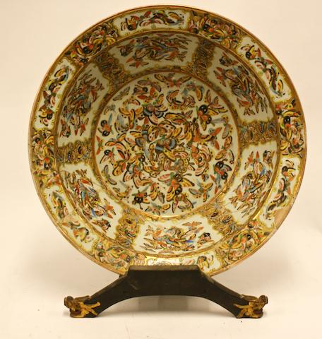 A large Chinese Canton famille rose bowl, late 19th / early 20th century