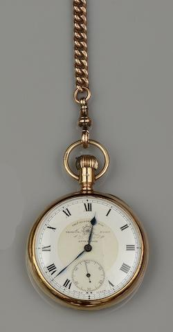 Thos. Russell, Liverpool: A 9ct gold pocket watch