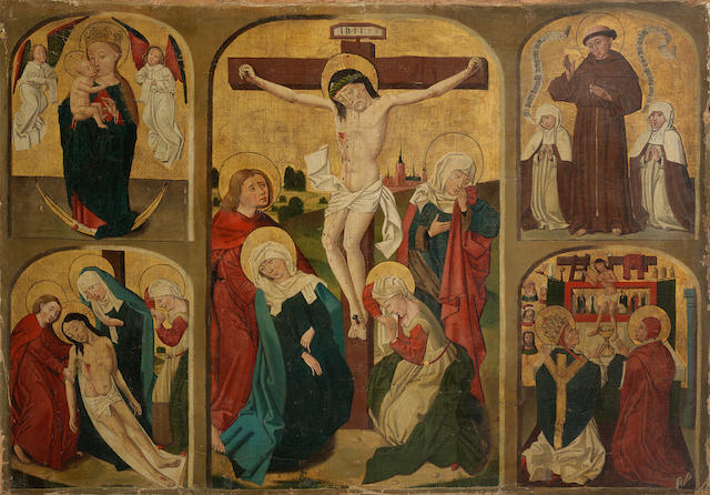 School of Constance, circa 1470 Scenes from the Life of Christ unframed