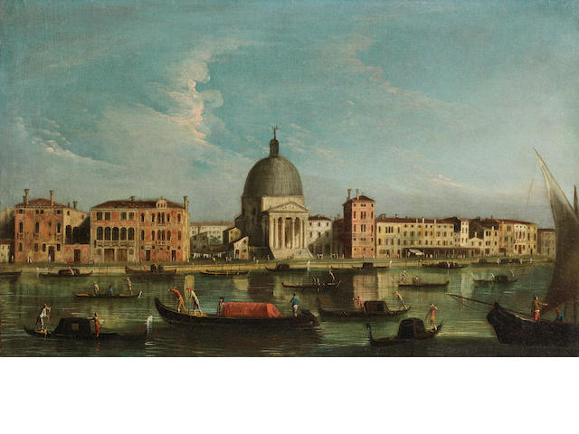 Apollonio Domenichini, alternatively identified as the Master of the Langmatt Foundation (active Venice circa 1740-1760) The Grand Canal, Venice unframed