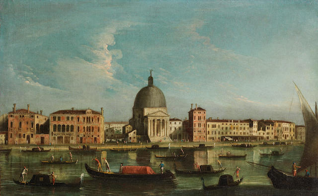 Apollonio Domenichini, alternatively identified as the Master of the Langmatt Foundation (active Venice circa 1740-1760) The Grand Canal, Venice unframed