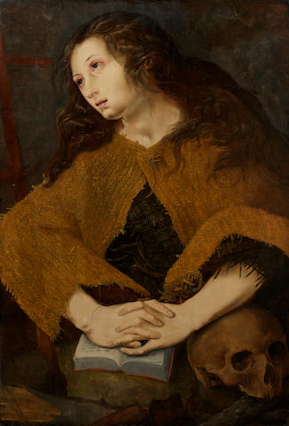 Peeter de Kempener, called Pedro de Campagna (Brussels circa 1503-circa 1580) The Penitent Magdalen unframed