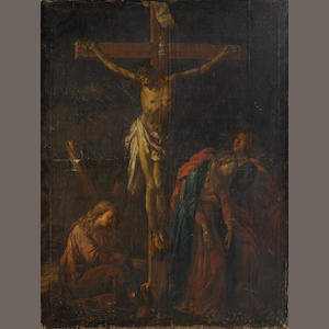 Dutch School, circa 1700 The Crucifixion unframed