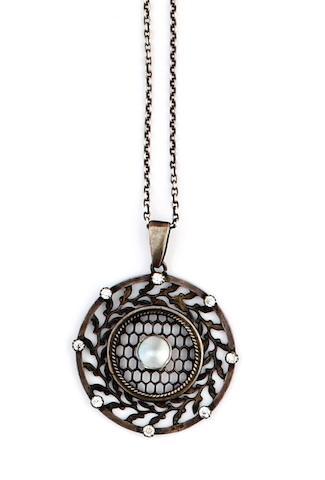 Murrle Bennett: An Art Nouveau opal brooch  (3)