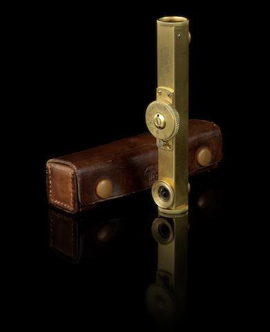 Leitz long-base gold-plated rangefinder,