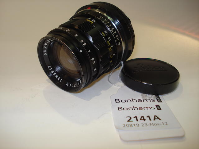 Leica f2 50mm Summicron lens,