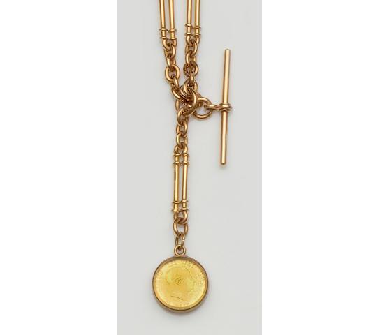 An 18ct gold fancy Albert chain