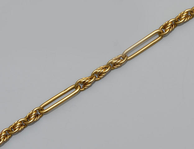 An 18ct gold fancy Albert chain