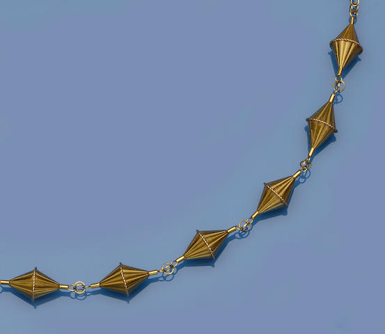 A fancy-link necklace