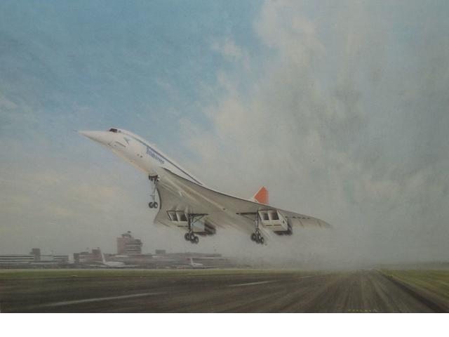 Assorted aviation prints,