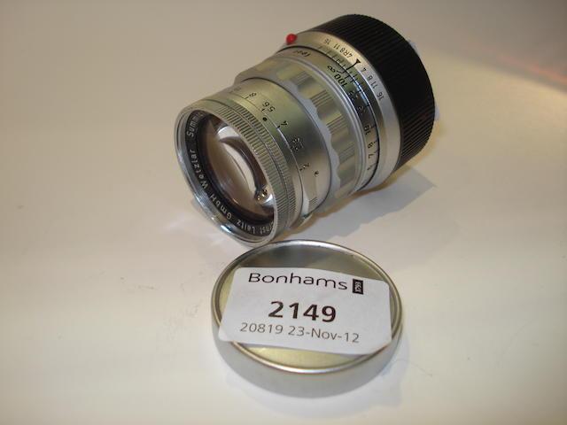 Leica 5cm f2 Summicron lens,