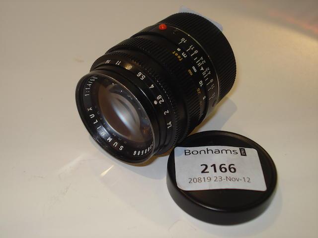 Leica 50mm f1.4 Summilux lens,