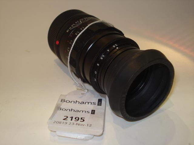 Leica 90mm f2.8 Elmarit lens,