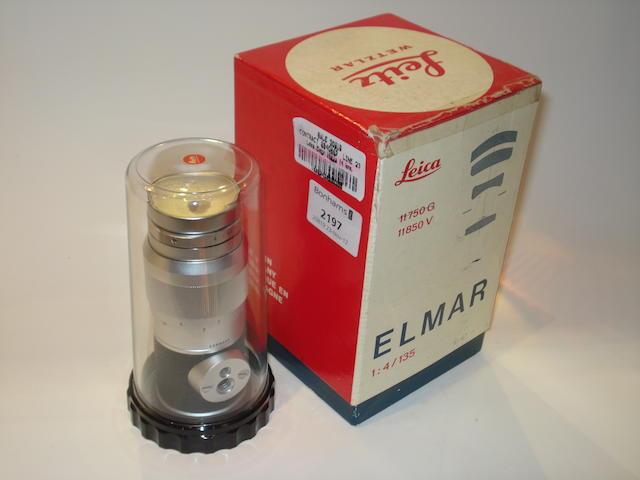 Leica Elmar 135mm f4 lens,