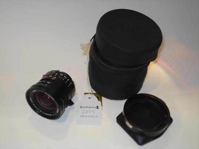 Leica 28mm f2.8 Elmarit M lens,